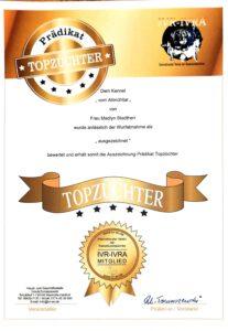 Auszeichnung Top Züchter